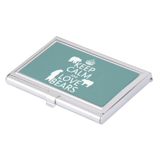 Keep Calm and Love Bears (in all colours) Business Card Holder