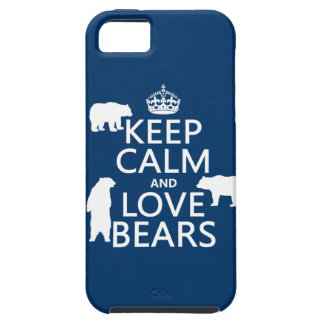 Keep Calm and Love Bears (in all colours) iPhone 5 Case