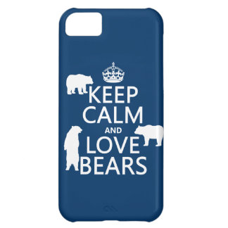 Keep Calm and Love Bears (in all colours) iPhone 5C Case