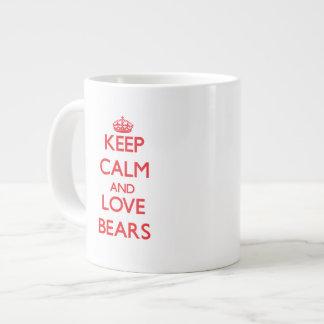 Keep calm and love Bears Large Coffee Mug