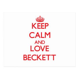 Keep Calm and Love Beckett Postcard
