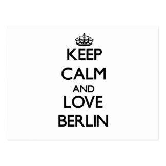 Keep Calm and love Berlin Postcard