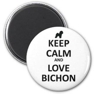 Keep calm and love Bichon Magnet