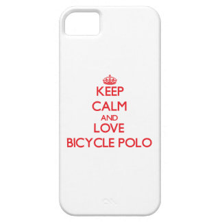 Keep calm and love Bicycle Polo iPhone 5 Cover