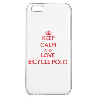 Keep calm and love Bicycle Polo iPhone 5C Case