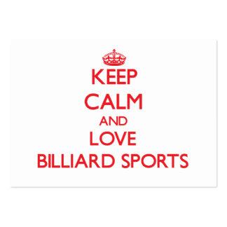 Keep calm and love Billiard Sports Business Card