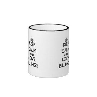 Keep Calm and love Billings Mug