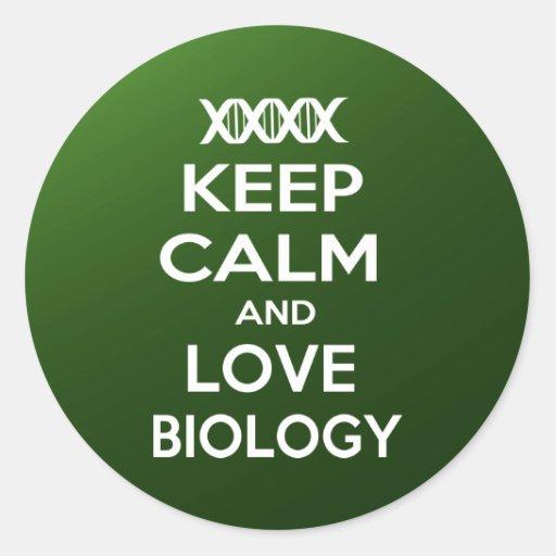 Keep Calm and Love Biology Sticker