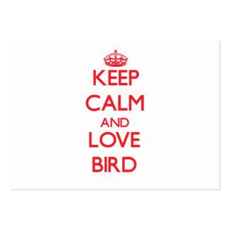 Keep calm and love Bird Business Card Template