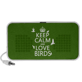 Keep Calm and Love Birds (any background color) Mp3 Speaker