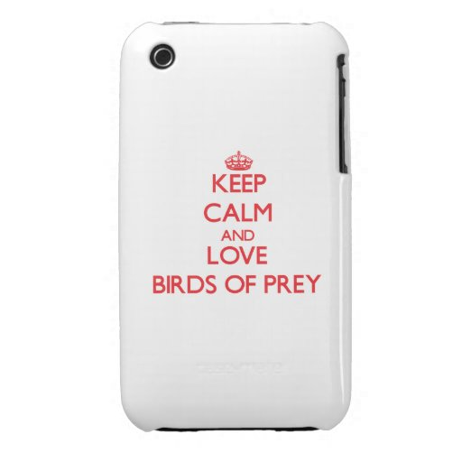 Keep calm and love Birds Of Prey Case-Mate iPhone 3 Cases