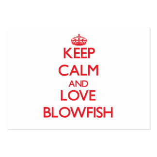 Keep calm and love Blowfish Large Business Cards (Pack Of 100)