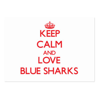 Keep calm and love Blue Sharks Business Card Template