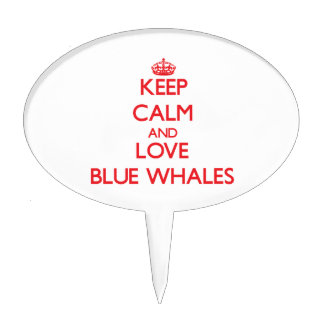 Keep calm and love Blue Whales Cake Toppers