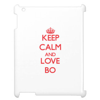 Keep Calm and Love Bo iPad Cover