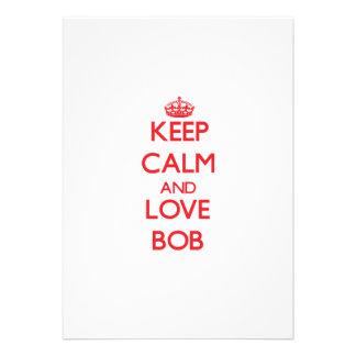 Keep Calm and Love Bob Announcement