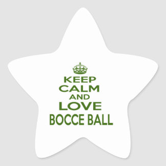 Keep Calm And Love Bocce Ball Stickers