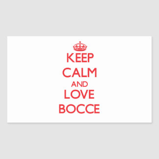 Keep calm and love Bocce Sticker