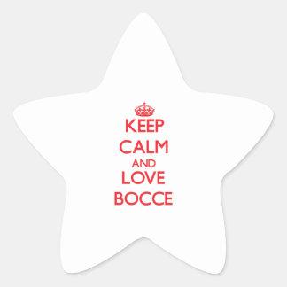Keep calm and love Bocce Star Sticker