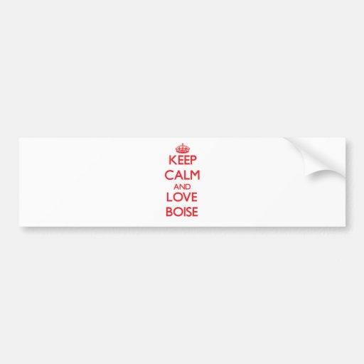 Keep Calm and Love Boise Bumper Sticker