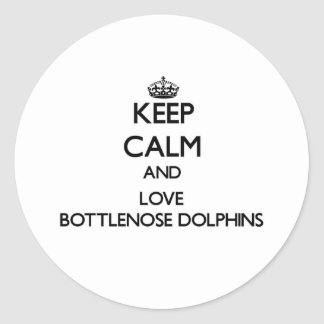 Keep calm and Love Bottlenose Dolphins Sticker