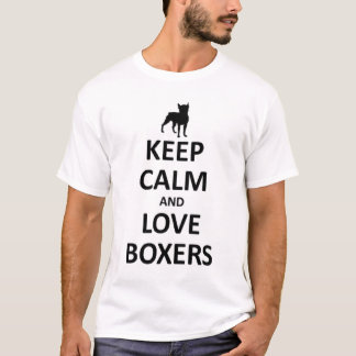 Keep calm and love Boxers T-Shirt
