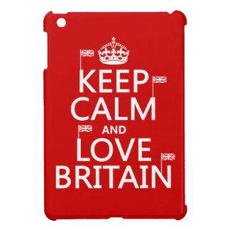 Keep Calm and Love Britain iPad Mini Case