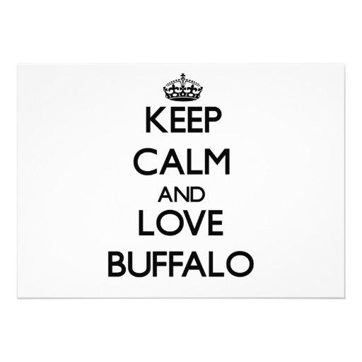 Keep Calm and love Buffalo Invites