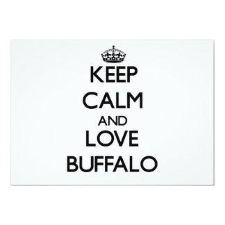 Keep Calm and love Buffalo 13 Cm X 18 Cm Invitation Card