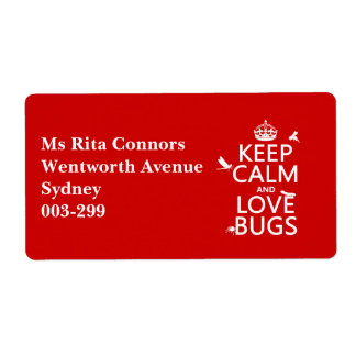 Keep Calm and Love Bugs (any background color)
