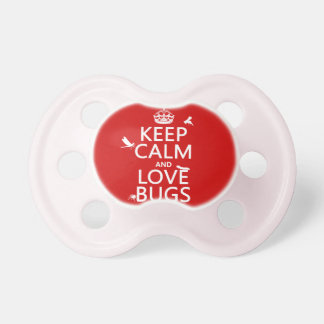 Keep Calm and Love Bugs (any background color) Dummy