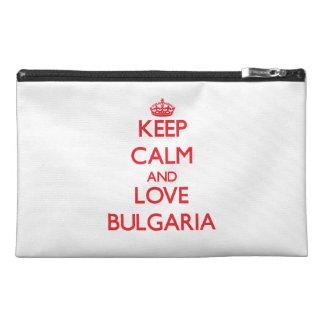 Keep Calm and Love Bulgaria Travel Accessories Bag