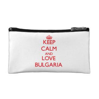 Keep Calm and Love Bulgaria Cosmetic Bags