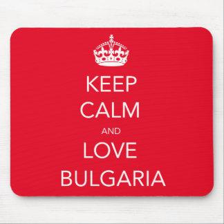 Keep Calm and Love Bulgaria Mouse Mat