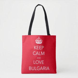 Keep Calm and Love Bulgaria Tote Bag
