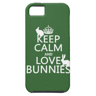 Keep Calm and Love Bunnies - all colors iPhone 5 Case