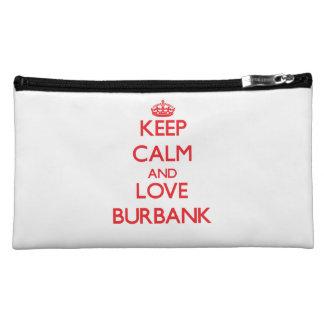 Keep Calm and Love Burbank Makeup Bag