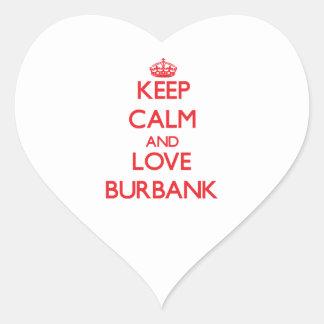 Keep Calm and Love Burbank Heart Sticker