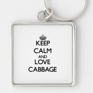 Keep calm and love Cabbage Keychains