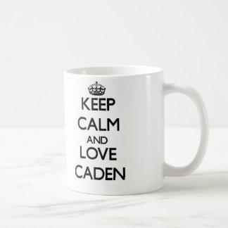 Keep Calm and Love Caden Coffee Mugs