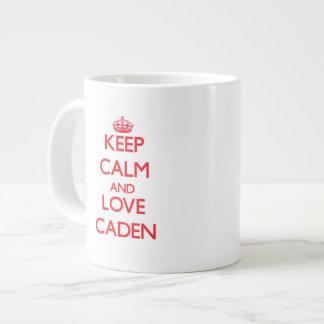 Keep Calm and Love Caden Jumbo Mugs