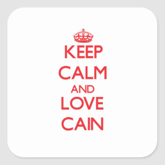 Keep calm and love Cain Sticker