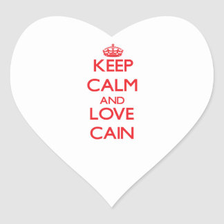 Keep calm and love Cain Stickers