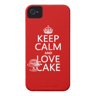 Keep Calm and Love Cake iPhone 4 Cover