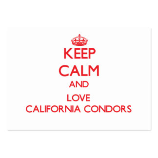Keep calm and love California Condors Business Cards