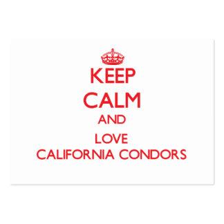 Keep calm and love California Condors Business Cards