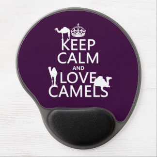 Keep Calm and Love Camels (all colors) Gel Mouse Mat