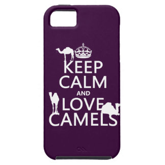 Keep Calm and Love Camels (all colors) iPhone 5 Case