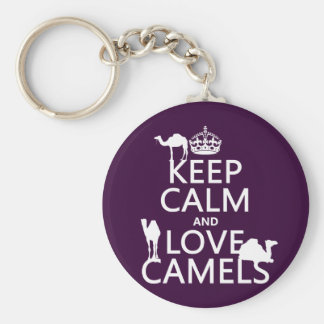 Keep Calm and Love Camels (all colors) Key Ring