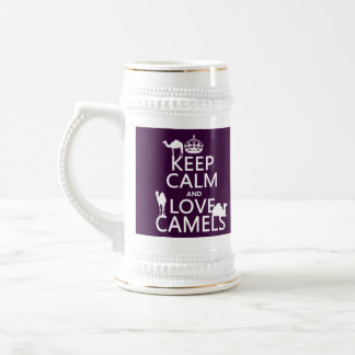 Keep Calm and Love Camels all colors Mugs